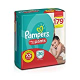 #3: Pampers Pants Extra Small Size Diapers for New Born (20 Count)