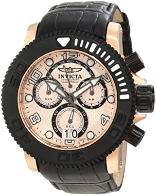 Invicta Men's 11167 Sea Hunter Pro Diver Chronograph Rose Gold Textured Dial Watch