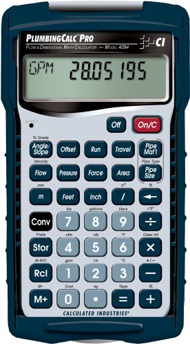 Plumbing Calc Pro Professional Plumbing Math Calculator - Calculated Industries - RC-CI4094 - ISBN:B002I621N8