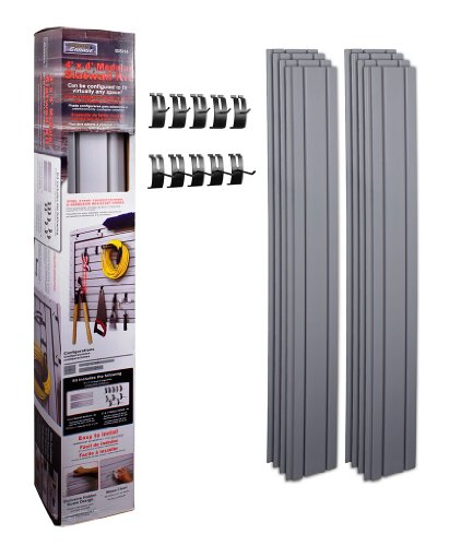 Install Bay Garage 4 x 4 Feet Modular Slat Wall Kit with 10 Hooks (ISSH4)