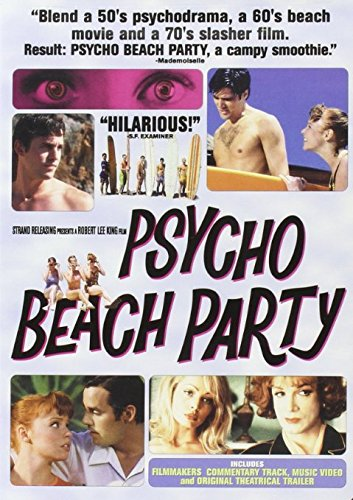 Psycho Beach Party DVD cover featuring Lauren Ambrose, Charles Busch, Thomas Gibson, Nicolas Brendon, Amy Adams