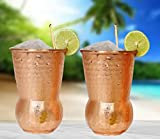 Get the most out of Eximius Power Moscow Mule Copper Mugs-20 Gauge Hammered Design-set of 2 cups-100% pure solid for mule cocktail recipe, Handcrafted, 16oz- a Gift Box-Bonus Straws & a cleaning Brush