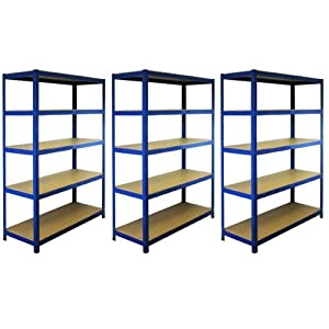 3 Bay Garage Racking Shelves / Shed Greenhouse Shelving 5 Tier 1200mm wide T RAX       Customer review