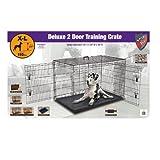 ➴ Knight Pet 48-Inch Deluxe Heavy Gage Metal 2 Door Dog Crate ➴