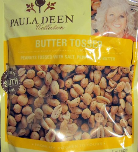 Paula Deen Butter Tossed Peanuts Tossed with Salt, Petter and Butter...true Taste of the South. 5 Oz Bag