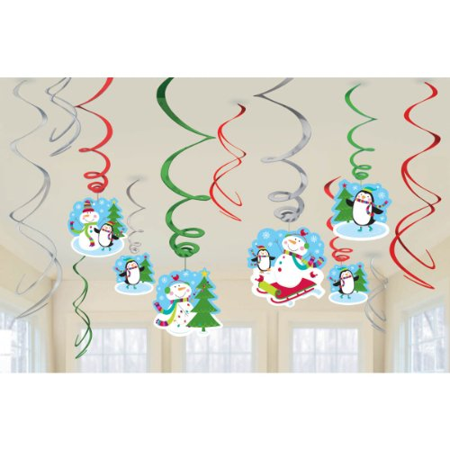 swirl decoration val pack joyful snowman
