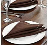 @home by Nilkamal 16'x16' Bliss Living Table Napkin, Beige