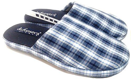 DE FONSECA pantofole ciabatte da uomo in cotone mod. QUADRO scozzese ( (41/42)