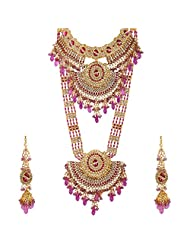 Lucky Jewellery Rani Gold Plated Bridal Jewellery Set For Women - B00RFI3KXY