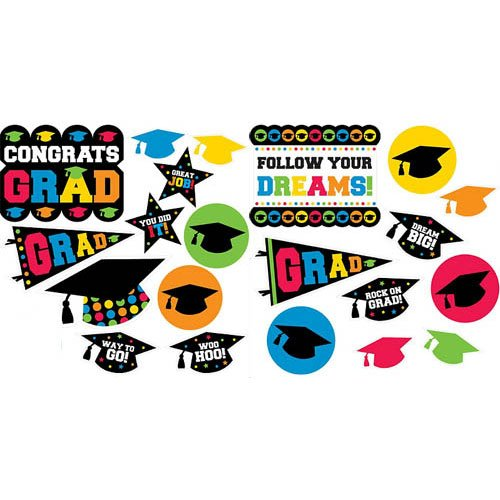 Multi Color Mega Value Pack Graduation Cutouts