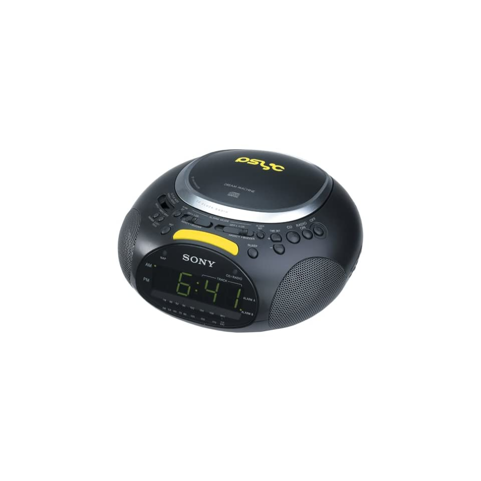 Sony ICF CD832PS Psyc CD / AM / FM Stereo Clock Radio (Black) Electronics