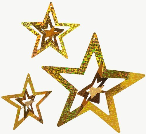 Foil Gold Stars (1 dz)