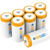 SunLabz® D Rechargeable Batteries (8 Pack) Ultra-Efficient NiCd 5000mAh