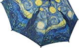 Womens Decorated Auto Open Mini Folding Umbrella Van Gogh Starry Night NEW!