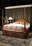 Maitland Smith #6330-124 Carved Mahogany King Size Poster Bed ~ New