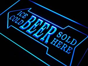 ADV PRO s148-b Ice Cold Beer Sold Here Bar Pub Neon Light Sign