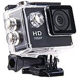 2.0インチ液晶 HD カメラ 多機能防水DV 1080P IP68 MJPEG 30メートル防水 140度広角 ビデオカメラ USB2.0 適用 バイクや自転車、カートや車に取り付け可能なスポーツカメラ A9 (ブラック)