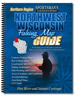 Northwest Wisconsin Fishing Map Guide, Northern Region
