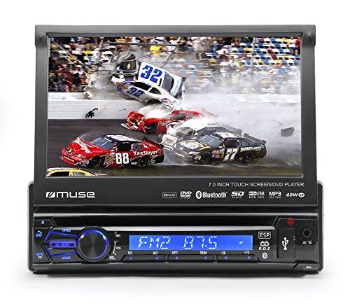 Muse-M-728-DR-Kfz-Radio-mit-ausfahrbarem-Bildschirm-RDS-DVD-DivX-CD-MP3-Bluetooth