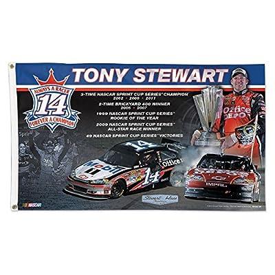 Tony Stewart Retirement Flag 3x5 Deluxe Wincraft NASCAR Banner