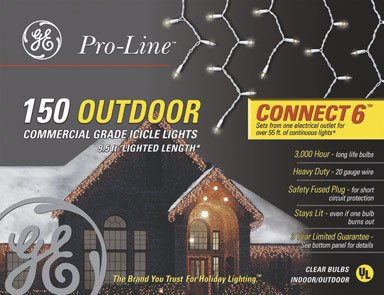 Ge 150 Mini Heavy Duty Icicle Lights