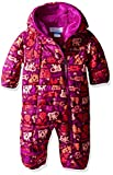 Columbia Baby Girls' Frosty Freeze Bunting, Bright Plum Critter, 12-18 Months