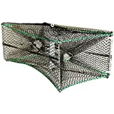 "KUFA Foldable Prawn Trap(size:16""x32""x12""),Stretched Mesh Size 1-1/4"" (S32)"