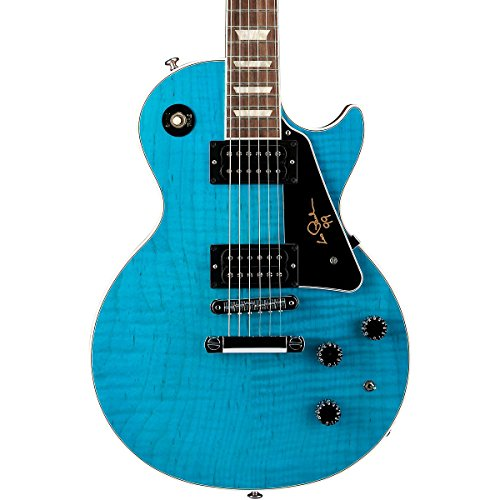 Gibson Usa Lpsigcurc1 Solid-Body Electric Guitar, Caribbean Blue