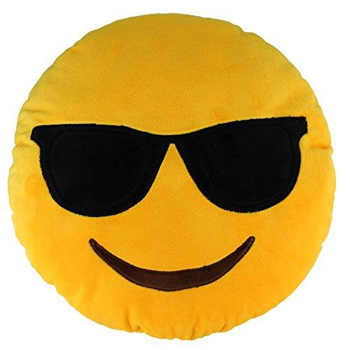 13.8″ Emoji Cool Emoticon Round Cushion Pillow Stuffed Plush Soft Toy Gift