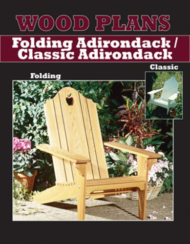Adirondack Lawn Chair Paper Woodworking Plan