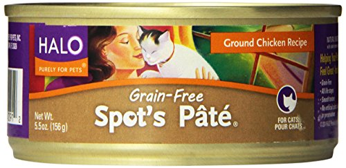 Halo Purely for Pets Chicken Spots Pate for Cat, 5.5 Ounce -