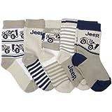 Baby JEEP Socken mit Automotiven, grau/weiß/marineblau (5 Paar)