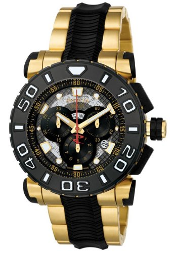 Invicta Men's 6314 Reserve Collection Chronograph 18k Gold-Plated and Black Polyurethane Watch