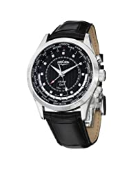 Vulcain Aviator GMT 2009 Men's Black Dial Mechanical Alarm Watch 100135.220LF