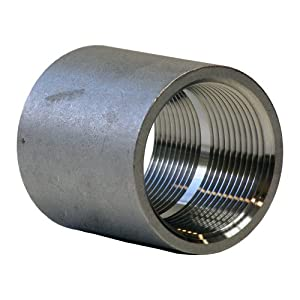 "Stainless Steel 304 Cast Pipe Fitting, Coupling, Class 150, 1/2"" NPT Female"
