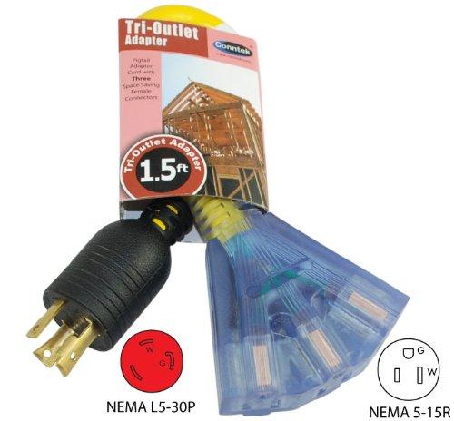 Conntek 1201 00215 1 5 Feet L5 20r 20 Amp 125 Volt Locking
