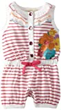 Carters Watch the Wear Baby-Girls Infant Romper With Stripes And Flowers