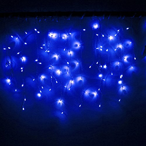 Led String Lights Bedroom : LEMONBEST New 3.5M 96 LED Fairy Lights Curtain Icicle Starry String Lights for Bedroom Christmas ...