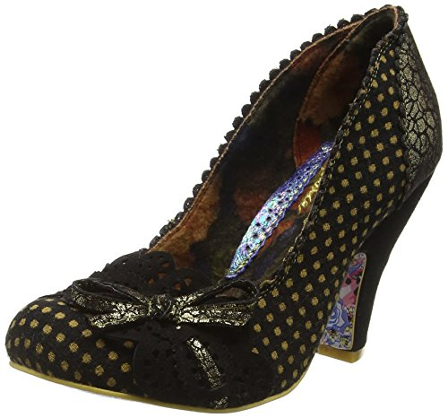 Irregular ChoiceMake My Day - Scarpe con Tacco donna, Nero (Nero (Black/Gold)), 41
