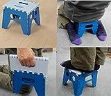 コンパクト 万能 踏み台【ブルー】 (正座椅子にも) ミニ 折りたたみ式 折り畳み 折畳み 折りたたみ 踏台 携帯用椅子 持ち運び椅子 法事用椅子 椅子
