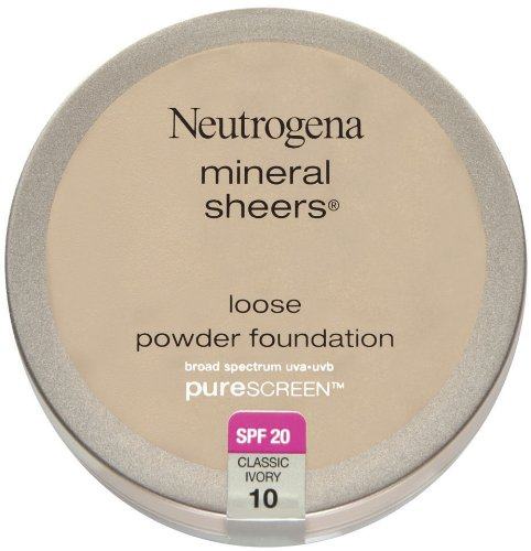 Neutrogena Mineral Sheers Loose Powder Foundation with PureScreen, SPF 20, Classic Ivory 10