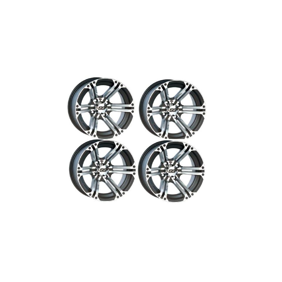ITP SS212 Wheel or Rim Kit Polaris Ranger & RZR Michine & Black Includes Lug Nuts