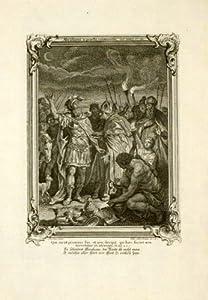 RELIGIOUS ANTIQUE PRINT - ABRAHAM - Killian - 1758