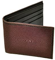 Stingray Leather Wallet, BiFold, 6 Credit Card Slots, Brown w/Brown Leather Interior