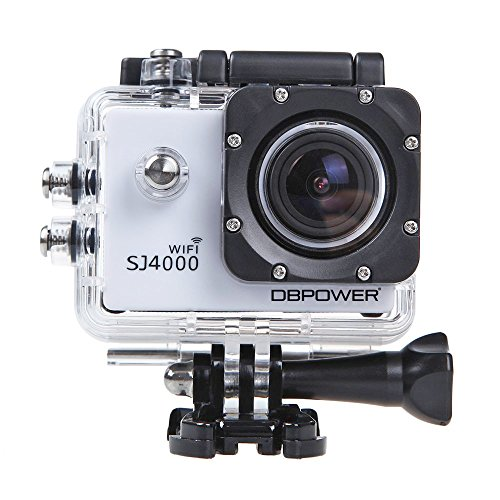DBPOWER 12MP 1080P Wifi Waterproof Action Camera - White