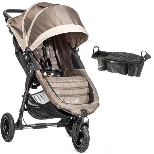 Baby Jogger - City Mini Gt Single Stroller With Parent Console - Sand Stone front-982032