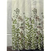 DKNY Shower Curtain Enchanted Forest - Ivory/Green