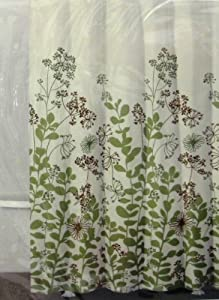 Dkny shower curtain enchanted forest ivory - Forest green shower curtain ...