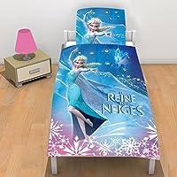 La Reine des Neiges de Disney 2070031 Parure 1 personne Coton Rose/bleu 140 CM x 200 CM + 63 CM x 63 CM
