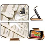 Liili Premium Motorola G 1st Generation Flip Pu Leather Wallet Case Headphones and keyboard concept of digital music Photo 5864891 Simple Snap Carrying